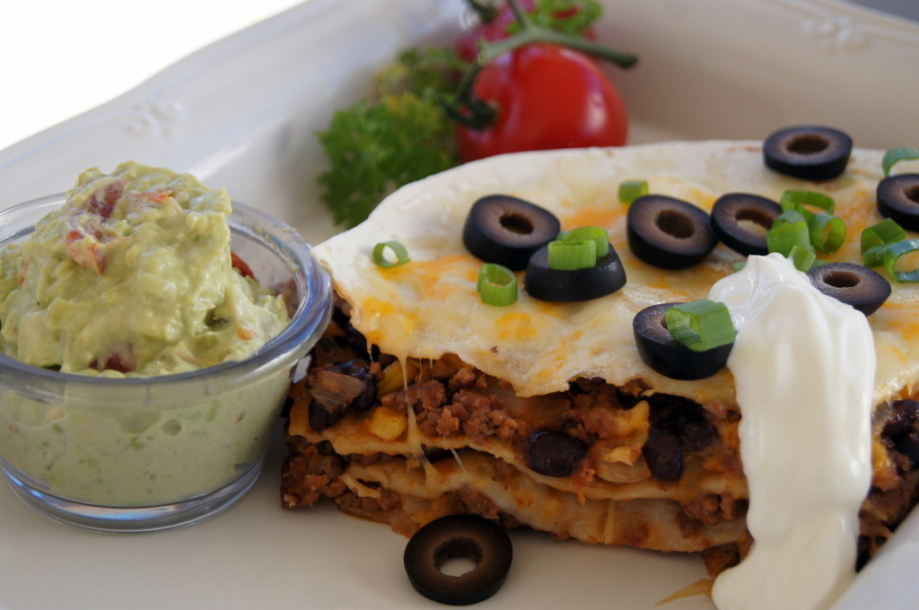 Stacked Cowboy Enchiladas
