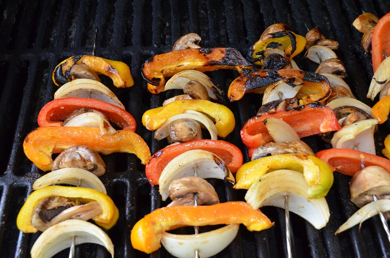 Grilled Vege Kabobs – Amazing!