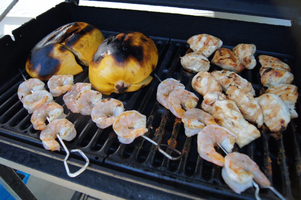 Grilling Spaghetti Squash Pad Thai from 3guysoutside.com