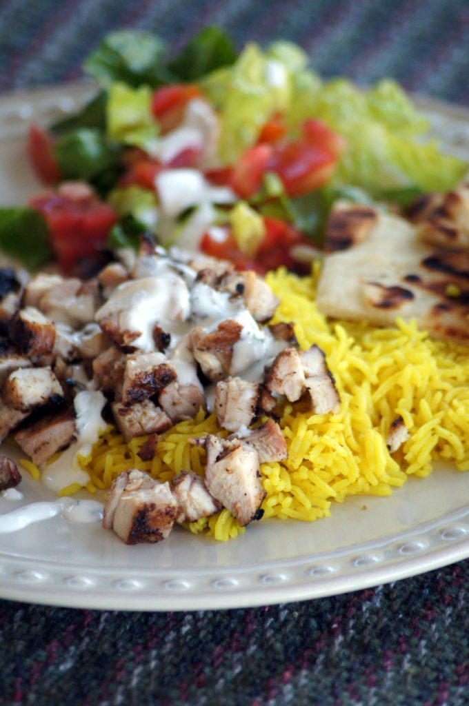 Indian Chicken with Yellow Rice from 3guysoutside.com